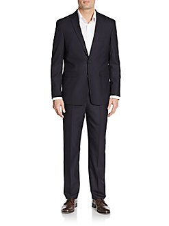 Slim-Fit Hairline Striped Suit