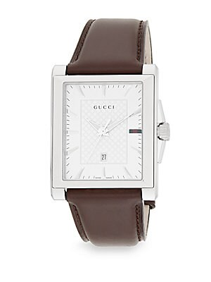 G-Timeless Stainless Steel & Leather Watch