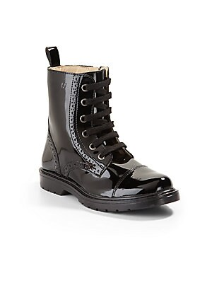 Girl's Lace-Up Boots