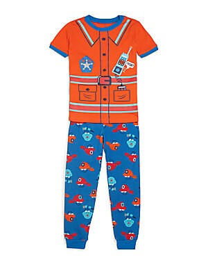 Toddler's & Little Boy's Firefighter Cotton Pajama Set