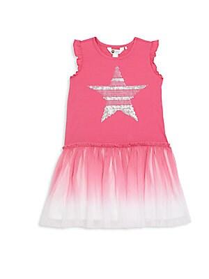 Toddler's & Little Girl's Sequined Drop-Waist Dress