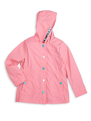 Girl's Hooded Raincoat