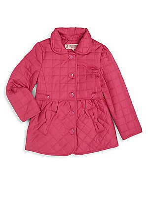 Toddler's & Little Girl's Bow-Trim Quilted Jacket