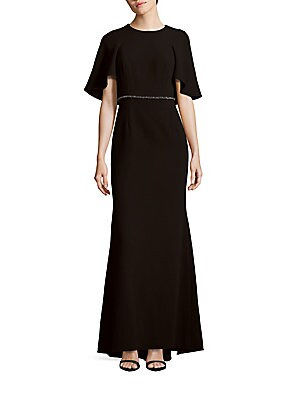 Solid Roundneck Gown