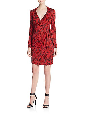 Savanna Silk Jersey Wrap Dress