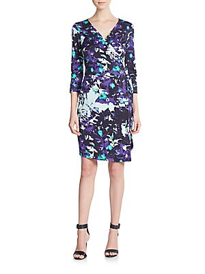 New Julian Two Printed-Silk Wrap Dress