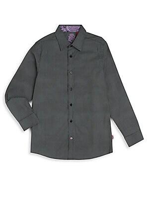 Boy's Pindot Cotton Sportshirt
