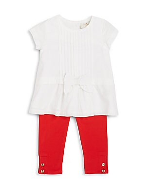 Baby's Two-Piece Pleated Top & Leggings Set