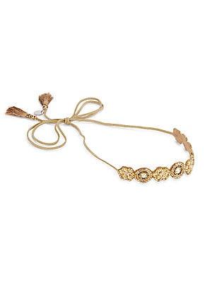 Floral Medallion Beaded Headband