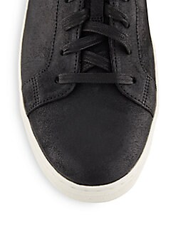Abbott Coated Leather Sneakers