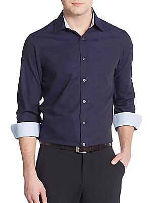 Regular Fit Button-Down Cotton Shirt