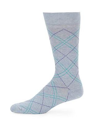 Argyle Cotton-Blend Socks