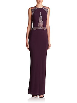 Paneled Jersey Gown