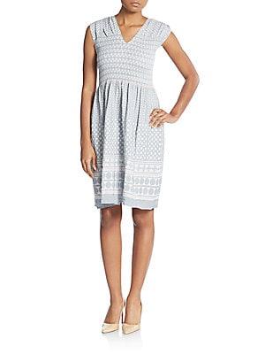 Jacquard Smocked Dress