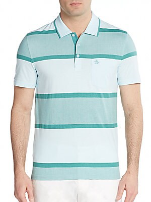 Expoloded Striped Cotton Polo Shirt