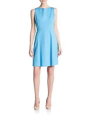 Seamed A-Line Dress