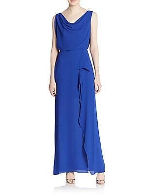 Sydney Cowlneck Drape Gown
