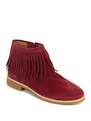 Betsie Too Fringed Suede Ankle Boots