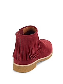 Betsie Fringe Suede Ankle Boots