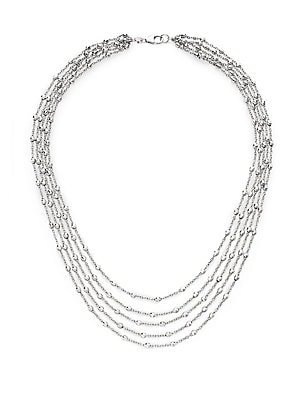 Click here for Pallini 18K White Gold Beaded Chain Necklace prices