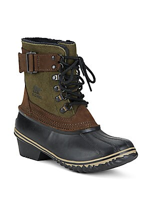 Waterproof Leather Duck Boots