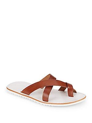 Leather Criss-CrossToe Sandals