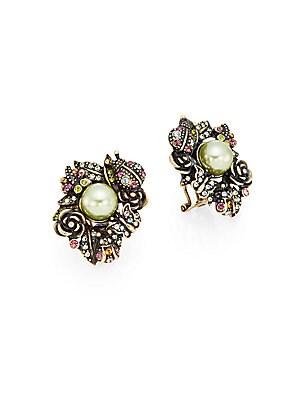 Bouquet of Beauty Swarovski Crystal & Multicolor Rhinestone Button Earrings