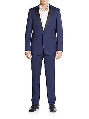 Extreme Slim-Fit Solid Peak Lapel Tuxedo