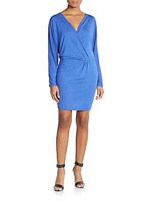 Modal Wrap-Front Sheath Dress