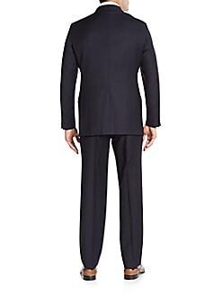 Regular-Fit Tonal Striped Wool Suit
