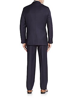 Regular-Fit Pinstriped Wool Suit