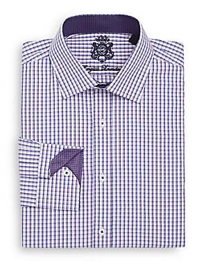 Regular-Fit Windowpane Check Dress Shirt