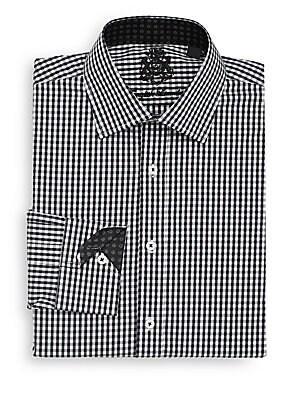 Regular-Fit Gingham Dress Shirt
