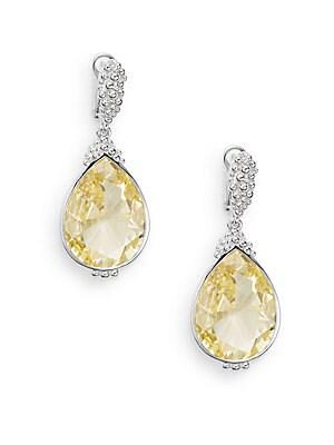 Bermuda Canary Crystal & Sterling Silver Teardrop Earrings