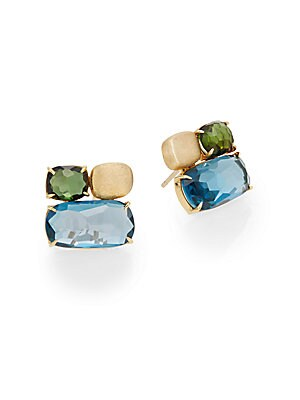 Click here for Murano London Blue Topaz  Green Tourmaline & 18K Y... prices