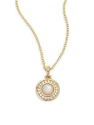 Click here for Lollipop Mother-Of-Pearl  Diamond & 18K Yellow Gol... prices