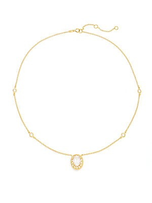 Quintessential Oval Pavé Station Necklace
