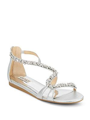 Carey Embellished Metallic Sandals