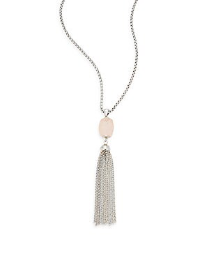 Brushed Fave Chain Tassel Necklace