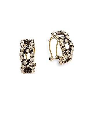 Crystal Chain Link Earrings