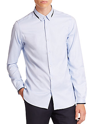 Grosgrain-Trimmed Shirt