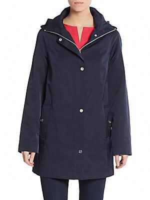 Poplin Stand Collar Raincoat