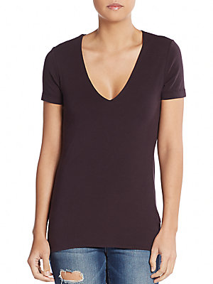 james perse female vneck tee