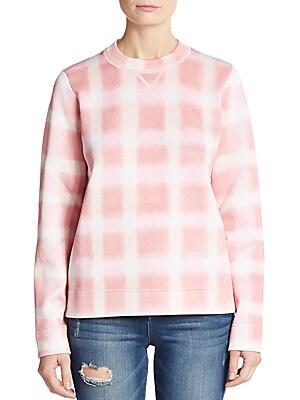 Blurred Gingham Sweatshirt