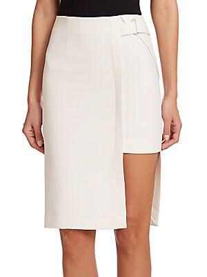 Bonded Cutout Pencil Skirt