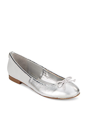 Banks Metallic Embossed Ballet Flats