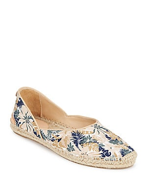 Georgie Tropical-Print Canvas Espadrilles