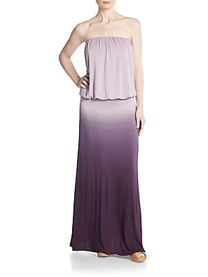 Sydney Ombre Strapless Blouson Maxi Dress
