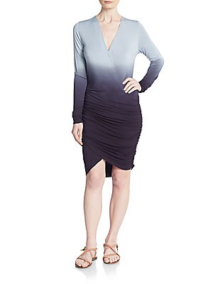 Babe Ombre Jersey Faux Wrap Dress
