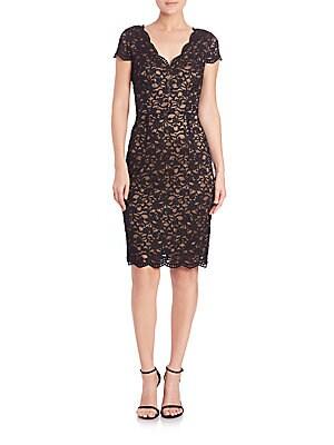 Minetta Floral Lace Cutout Back Dress